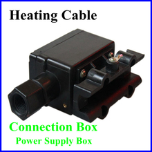 Heating Cable Junction Box,220V/230V Heating Electrical Cable Power Supply Connection Box(China)