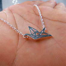 sterling silver jewelry 925 Refinement Paper Cranes Short Pendant Necklaces for Simple Sterling Silver Jewelry Collier gifts B57