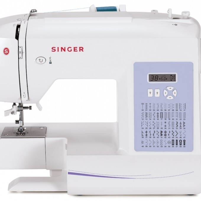 Singer Sewing Machine 6160 60-Stitch Computerized with Auto Needle Threader (1)