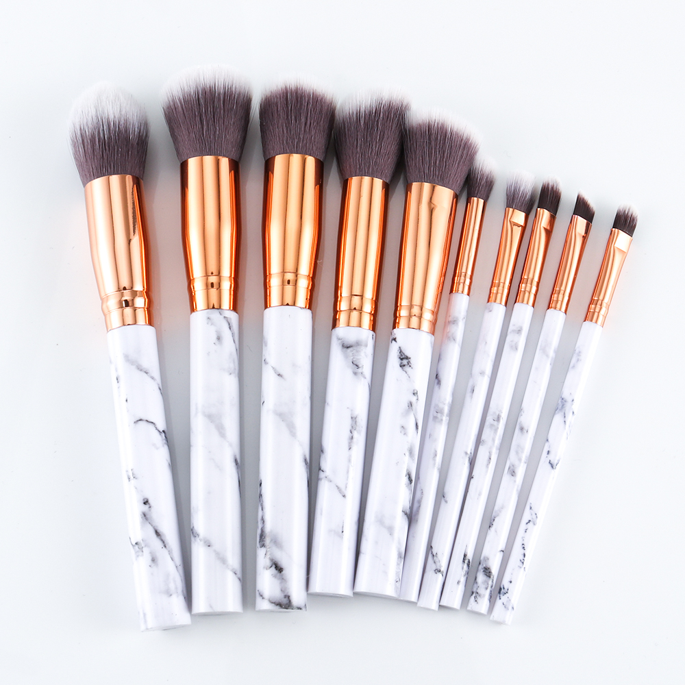 Marble makeup brushes  (11)
