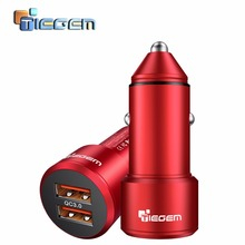 TIEGEM Dual USB Car Charger Quick Charge 2.0 3.0 Mobile Phone Car-charger adapter for iPhone 7 Samsung Xiaomi Car Phone Charger(China)