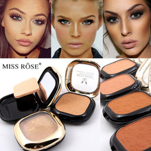 2017 New Miss Rose Brand Makeup Long Lasting Minerals Foundation Face Bronzer Contour Compact Powder Makeup(China)