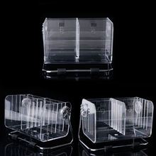 6 Cells TV Remote Control Phone Key Pen Acrylic Organizer Storage Box Clear Stand Holder Display Storage Box