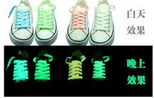 12pairs/lot 100CM light up Shoelaces Glow in the Dark Kid Adults Neon Night fluorescence light Lace Shoe LED party decoration