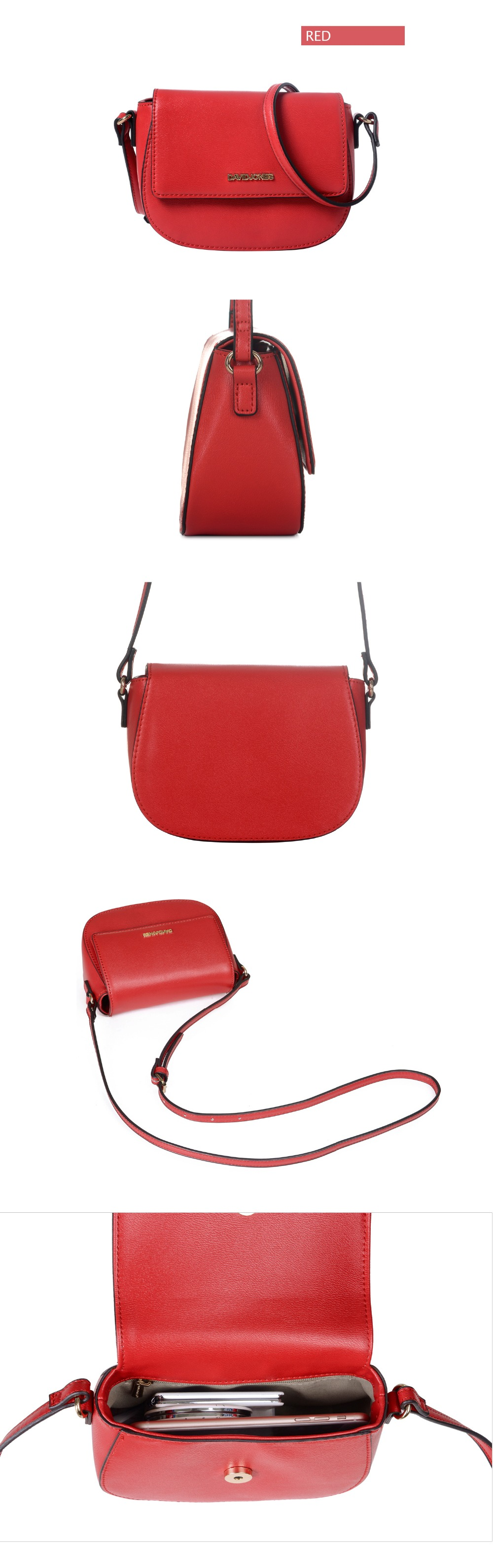 e7128d92f157 DAVIDJONES Women Crossbody Bag Small Messenger Mini Saddle Femal ...