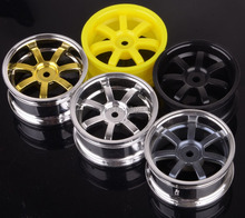 "4pcs Plastic 7 spoke Wheel Rims fit 1.9"" Tyre For 1:10 RC Model On Raod Car HSP HPI RACING 6022A"