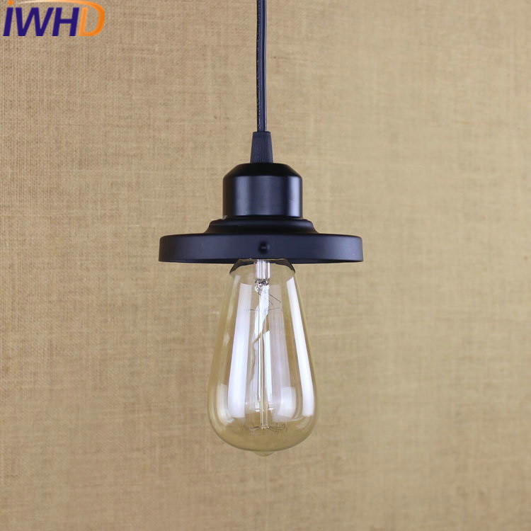 IWHD American Style Iron Hanglamp Loft Vintage Industrial Lighting LED Pendant Lamp Black Kitchen Lamparas e27 220V For Decor<br>