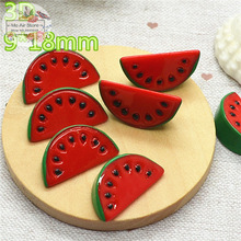 Watermelon fruit 10PCS 3D Resin Flatback Cabochon Miniature food Art Supply Decoration Charm Craft