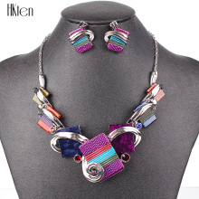 MS20676 Fashion Jewelry Sets Silver Plated Purple/Leopard/Blue/Gray Colors Unique Design Party Gifts High Quality Free Shipping(China)