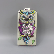 for Sony Ericsson WT19i Hot Pattern Cute PrintingVertical Flip Cover Open Down/up Back Cover filp leather case
