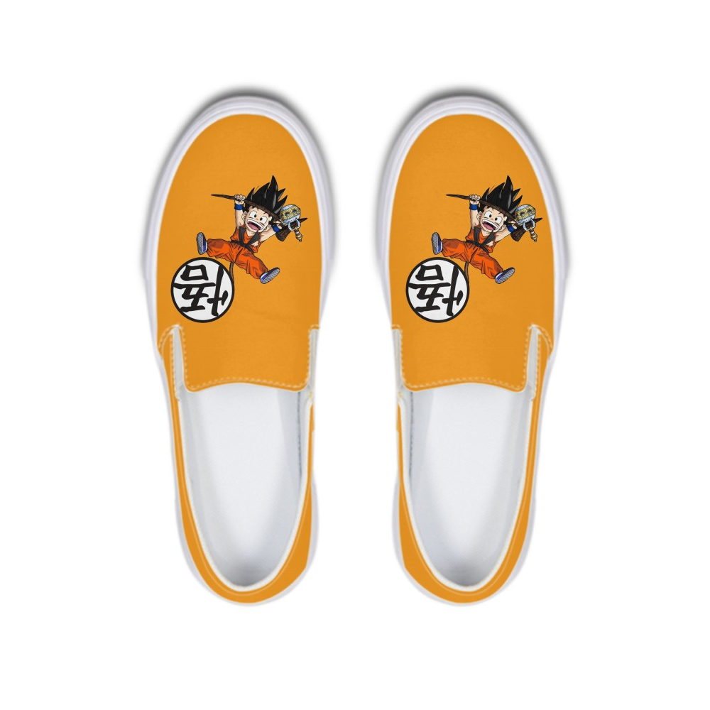 Super Saiyan Goku Anime Dragon Ball Autumn Canvas Flat Lazy Shoes Women/Men Solf Rubber Ladies Loafer Female Sneakers Footwear