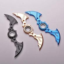 3 Colors New Arrival Weapon Spinner Darts Batman Metal Bat Dart Spinner Weapon Model 229