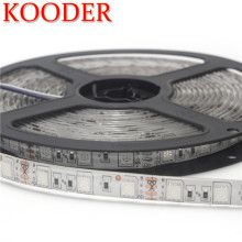 KOODER 1 Roll 5M Waterproof 12V LED Strip Light SMD 5050 Warm White /Cold White Diode Tape LED Lamp Home Holiday Decoration(China)