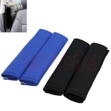 Kris 1 Pair Comfortable Car Safety Seat Belt Shoulder Pads Cover Cushion Harness car shoulder pad hot(China)