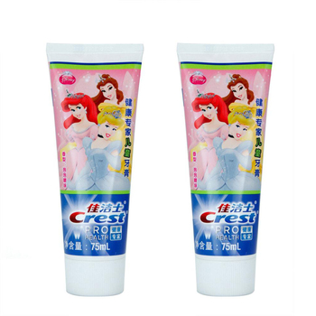 Crest Stages Kid's Toothpaste Gum Care Princess bubblegum flavor Tooth Paste for Girls Twin Pack