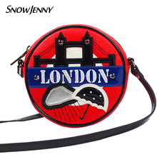 Borsa SnowJenny SJ Brand Braccialini Art London Bridge Cartoon Women Messenger Bag Female Shoulder Bags