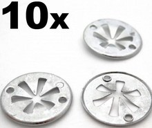 10x For Volkswagen Metal Locking Star Washers- VW Underbody Heat Shield Fasteners(China)