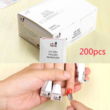200pcs/Pack Gel Remover Nail Lacquer Polish Foil Remover Wraps UV Removable Environmental Easy Cleaner Gel Nail Wraps(China)