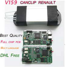 V160 for Renault Can Clip Full Chip OBD2 Diagnostic Tool for Renault Can Clip Scanner Multi-Languages Can Clip V160 DHL Free