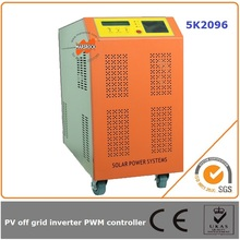 5000W off grid solar inverter controller 96V DC power frequency transformer pure sine output capacity of different loads