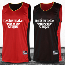 Men's Reversible Basketball Jerseys Shirt Shorts Sport Set Summer Both Sides Basketball Training Suit Custom Wear Uniform