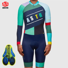 Long sleeve Color stitching black Skinsuit jumpsuit Men's Sportswear Coveralls bike riding Clothing Cycling MTB Clothes