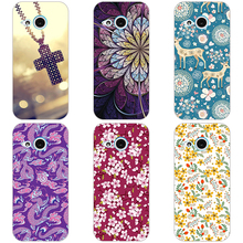 "120 Styles Cool Painting Case Cover For HTC one mini 2 M8 Mini 4.5"" Hard Plastic Phone Case for HTC One M 8 NINI phone shell(China)"