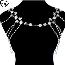 Korean wedding bride shoulder chain necklace popular hair clavicle(China)