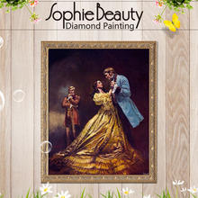 Sophie Beauty Mosaic Pictures DIY Prom Party Dress Photo Custom Embroidery Diamond Mosaic Diamond Painting Cross Stitch Home Art(China)