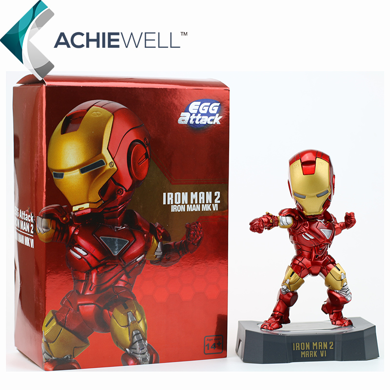 Free Shipping Iron Man 2 EGG Attack Mark VI Mk 6 PVC Action Figure Collectible Toy with LED Light 7 18cm<br><br>Aliexpress