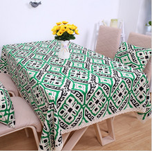Buy New Arrival! Green Totem Cotton&Linen Lace Edge Table Cloth Tea Table Cloth Multi-function Decorative Cover for $7.50 in AliExpress store