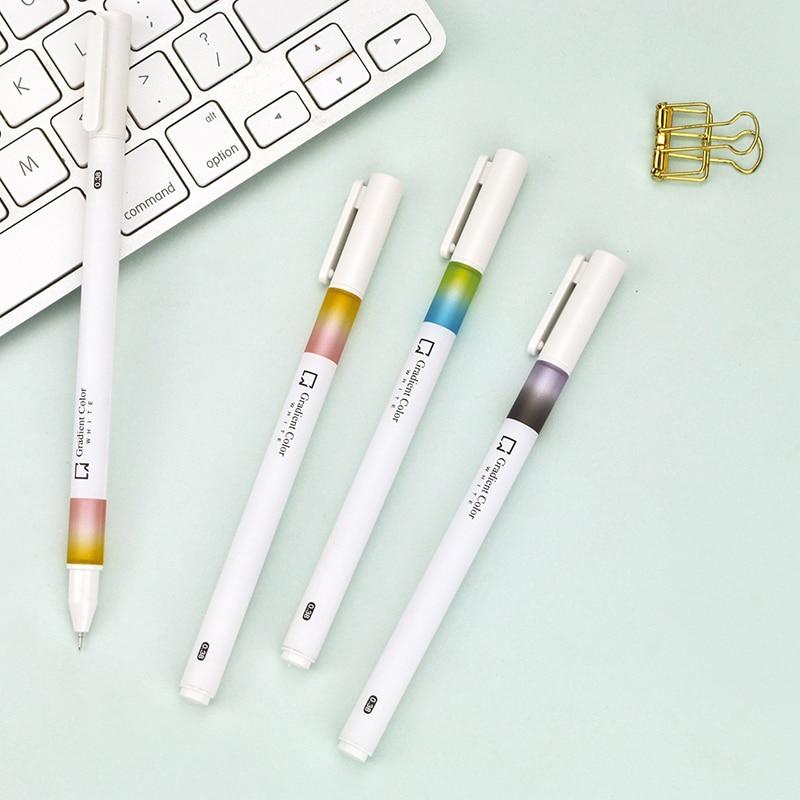 3pcs//Set Girls Handbag Office Lipstick Shape Ball Roll Point 0.5mm Writting Pen