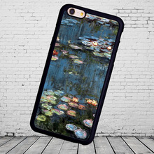 Waterlilies by Claude Monet cellphone Soft TPU Case for iPhone 7 7Plus for iPhone 6 6S Plus 5 5S 5C SE Soft Rubber Phone