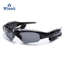Winait BT101 Bluetooth sunglasses, mp3 music display sunglasses, hands free sunglasses free shipping(China)