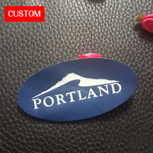 factory private customzied PU leather printing labels sewing on clothes private label branding for jeans leather garment labels