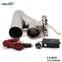 "2.5"" EXHAUST CATBACK TURBO ELECTRIC E CUTOUT Y PIPE WITH REMOTE For FORD MUSTANG GT/SVT V8 AT 97-04 TK-CUTNEW25(China)"