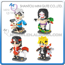Full Set Mini Qute LOZ Anime cartoon boys gift naruto Mitsuki Sasuke Sarada plastic building blocks model educational toy - MINI QUTE PLASTIC BLOCKS & METAL PUZZLE WORLD store