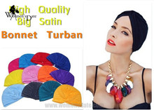 WomensDate 2017 Women's Head Wrap Band Hat 20 Color Indian Cap For Women Turban Hats Beanies Muslim Ethnic Hat 1Pcs