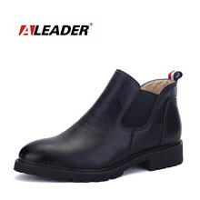 Autumn New British Style Men's Chelsea Boots Luxury Brand Leather Casual Men Ankle Boots Vintage Martin Botas Formal Dress Shoes(China)