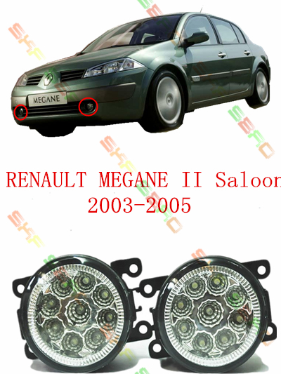 For RENAULT MEGANE 2/II Saloon  2003-2005  car styling led lamps Refit fog lights    12V  2 PCS  White  Yellow<br><br>Aliexpress