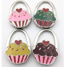 2017 Cute Cup Cake Bags Purse Hanger Hook Fashion  Portable Foldable Handbag Hook Table Bags Hook Gift