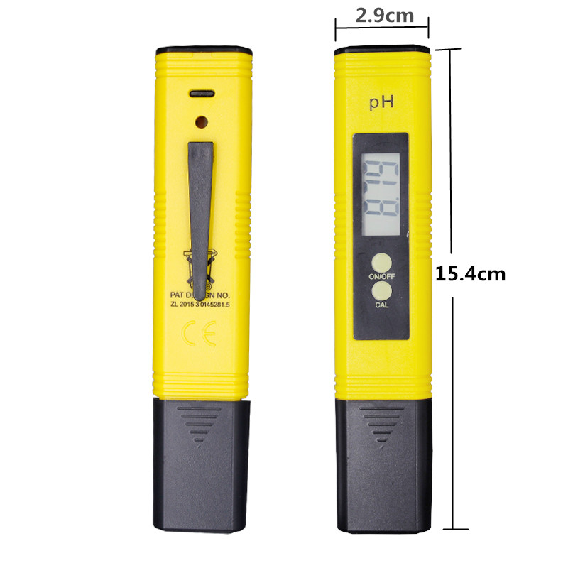 100pcs by dhl fedex Digital PH Meter Tester Water Wine Urine Monitor accuracy 0.01 automatic calibration 12%off 4