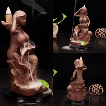 Beauty of Ancient Ceramic Incense Burner Mermaid Burners Candle Incense Aromatherapy Incense Burners(China)