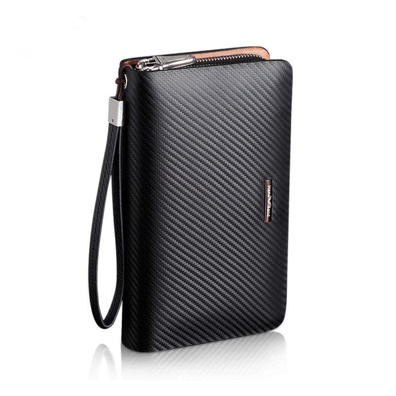 Natural Cowhide Famous Men Wallets Genuine Leather Bag Real Leather Wallet Brand Men Clutch Bags Carteira Masculina Big Capacity<br>