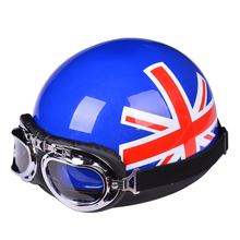 free shipping motorcycle helmet Novelty helmet with goggles open face helmet Summer Vintage Motorcycle Helmets