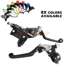 "Motorcycle 7/8""Hydraulic Brake & Cable Clutch Lever Set Assembly For Suzuki RM 85 125 RMX RMZ 250 450 DR250R /S"