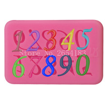 2017 New Numeral & Figure Lace Silicone Fondant Soap 3D Cake Mold Cupcake Jelly Candy Chocolate Decoration Baking Tool FQ3264