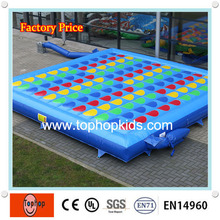 4*4m factory direct high quality pvc tarpaulin inflatable twister game mattress for sale(China)
