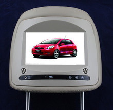"Grey 7"" digital screen headrest Car Monitor with dual videos input fit for Toyota Yaris"