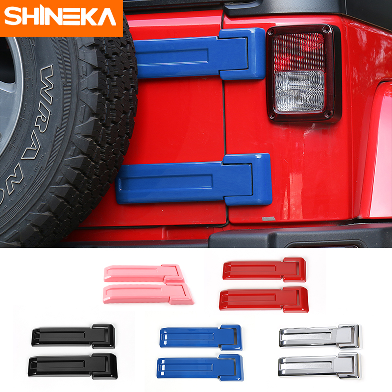 Black Tailgate Spare Tire Hinge Cover Trim For 2018 Jeep Wrangler JL Accessories